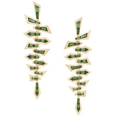 Stephen Webster Dynamite Tourmaline and 18 Carat Yellow Gold Shattered Earrings