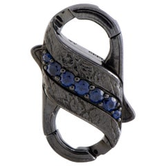 Stephen Webster England Made Me Silver and Black Rhodium 1-Row Blue and Black