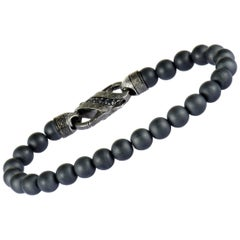 Stephen Webster England Made Me Silver and Black Rhodium Black Sapphire and