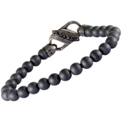 Stephen Webster England Made Me Silver and Black Rhodium Black Sapphire Pave and