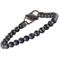 Stephen Webster England Made Me Silver and Black Rhodium Black Sapphire Pave