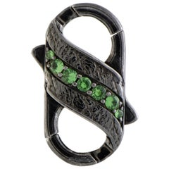 Stephen Webster England Made Me Silver and Black Rhodium Tsavorite and Black