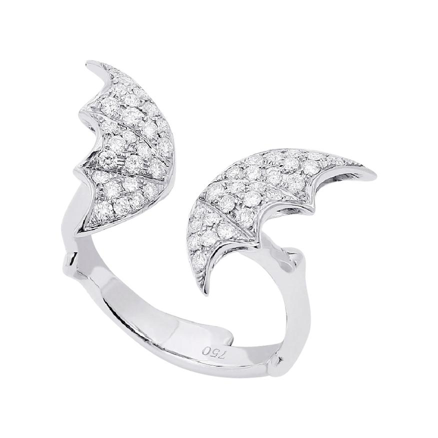 Stephen Webster Fly by Night 18 Carat Gold and White Diamond Pavé Open Ring