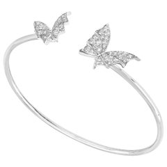 Stephen Webster Fly by Night 18 Carat White Gold and White Diamond Pavé Bangle