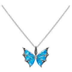Stephen Webster Fly by Night Black Opalescent Crystal Haze and Diamond Pendant