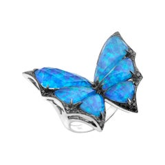 Stephen Webster Fly by Night Black Opalescent Crystal Haze & Diamond Large Ring