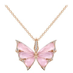 Stephen Webster Fly by Night Pink Opal Crystal Haze and White Diamond Pendant