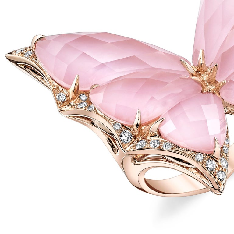 For Sale: undefined Stephen Webster Fly by Night Pink Opal Crystal Haze and White Diamond Ring 2