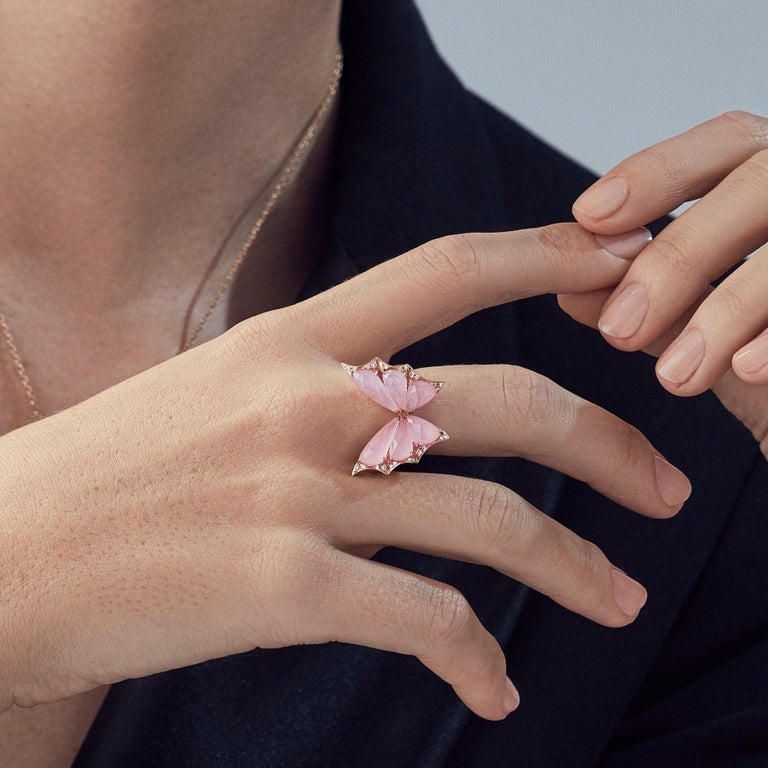 For Sale: undefined Stephen Webster Fly by Night Pink Opal Crystal Haze and White Diamond Ring 3