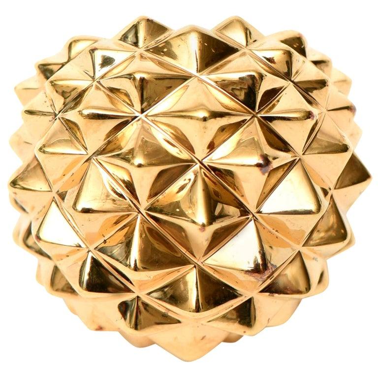 Stephen Webster Gold Plate Over Sterling Silver Stud Dome Ring  For Sale