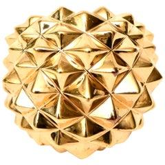 Stephen Webster Gold Plate Over Sterling Silver Stud Dome Ring