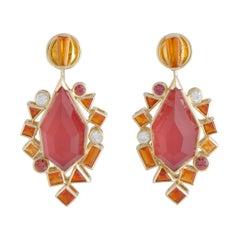 Stephen Webster Goldstruck 18K Gold Diamond and Multi-Gemstone Dangle Earrings