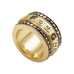 Stephen Webster I Fought The Law 18 Karat Yellow Gold Band Ring 3008188007