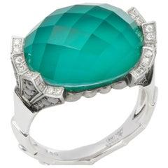 Stephen Webster Jewels Verne 18 Carat White Gold Crystal Haze Fan Ring