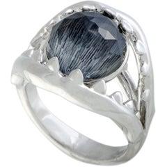 Stephen Webster Jewels Verne Silver Grey Cat's Eye and Clear Quartz Crystal Haze