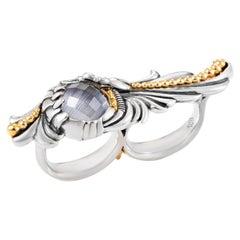 Stephen Webster Jewels Verne Sterling Silver Quartz Two-Finger Ring
