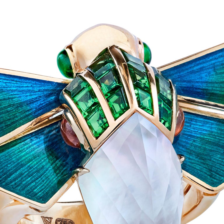 For Sale: undefined Stephen Webster Jitterbug Cuckoo Bee 18ct Gold and White Mother of Pearl Ring 2