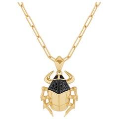 Stephen Webster Jitterbug Toro Beetle 18 Carat Gold and Black Diamond Pendant