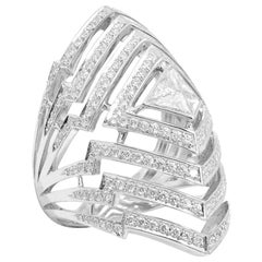 Stephen Webster Lady Stardust 18 Karat White Gold and White Diamond Pavé Ring
