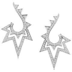 Stephen Webster Lady Stardust 18 Carat White Gold and White Diamonds Earrings