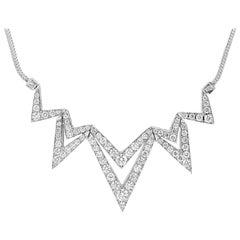 Stephen Webster Lady Stardust 18 Carat White Gold and White Diamonds Necklace