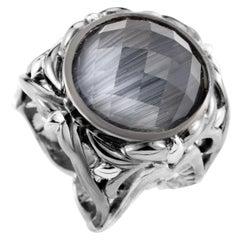 Stephen Webster Les Dents de la Mer Sterling Silver Cat's Eye and Quartz Ring
