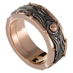 Stephen Webster London Calling Men's Rose Gold Plated Silver Spinner Band Ring