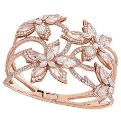 Stephen Webster Love Me, Love Me Not Diamond and 18 Carat Rose Gold Cuff