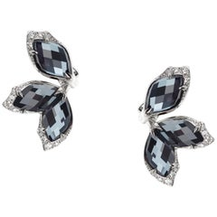 Stephen Webster Love Me, Love Me Not Hematite Crystal Haze (11.99 Ct) Earstuds