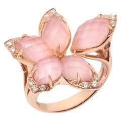 Stephen Webster Love Me, Love Me Not Pink Opal Crystal Haze and Rose Gold Ring