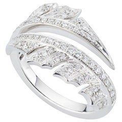 Stephen Webster Magnipheasant 18ct White Gold and White Diamond Pavé Split Ring