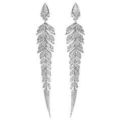 Stephen Webster Magnipheasant Pavé 18 Karat Gold and White Diamond Earrings