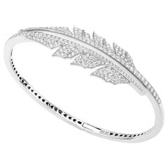 Stephen Webster Magnipheasant Pavé Open Feather 18K Gold and Diamond Bracelet