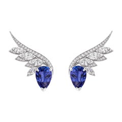 Stephen Webster Magnipheasant Tanzanite '4.99cts' and Diamond Couture Earrings