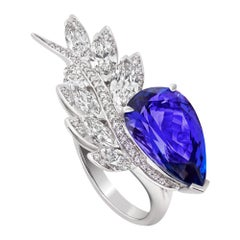 Stephen Webster Magnipheasant Tanzanite '7.15cts' and White Diamond Couture Ring