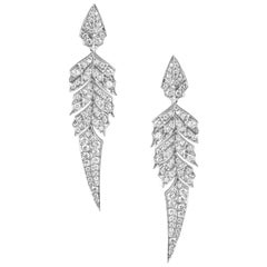 Stephen Webster Magnipheasant White Gold and White Diamond Pavé Short Earrings