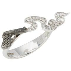 Stephen Webster Murder She Wrote 18 Carat White Gold Smoking Gun Diamond Ring