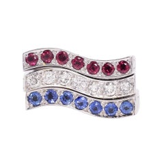 Stephen Webster NY UK Red White Blue Stacking Rings
