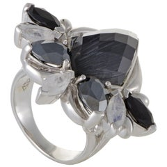 Stephen Webster Pop Superstud Silver Spinel Hematite and Cat's Eye Ring