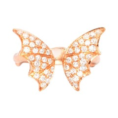 Stephen Webster Rose Gold-Plated Crystal Wings Ring
