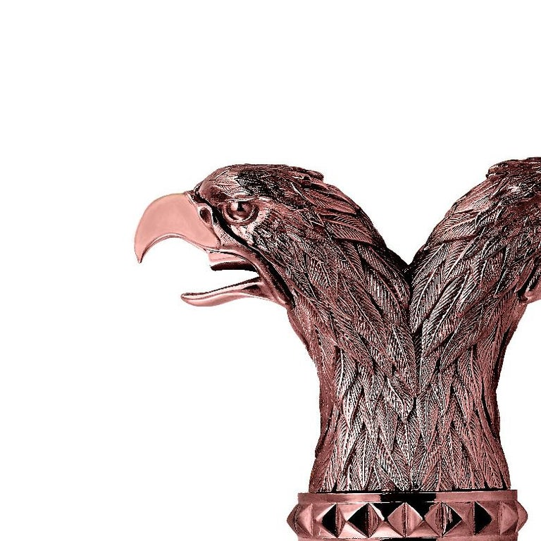 Contemporary Stephen Webster Russian Roulette Rose Gold-Plated Double Eagle Head Pourer For Sale