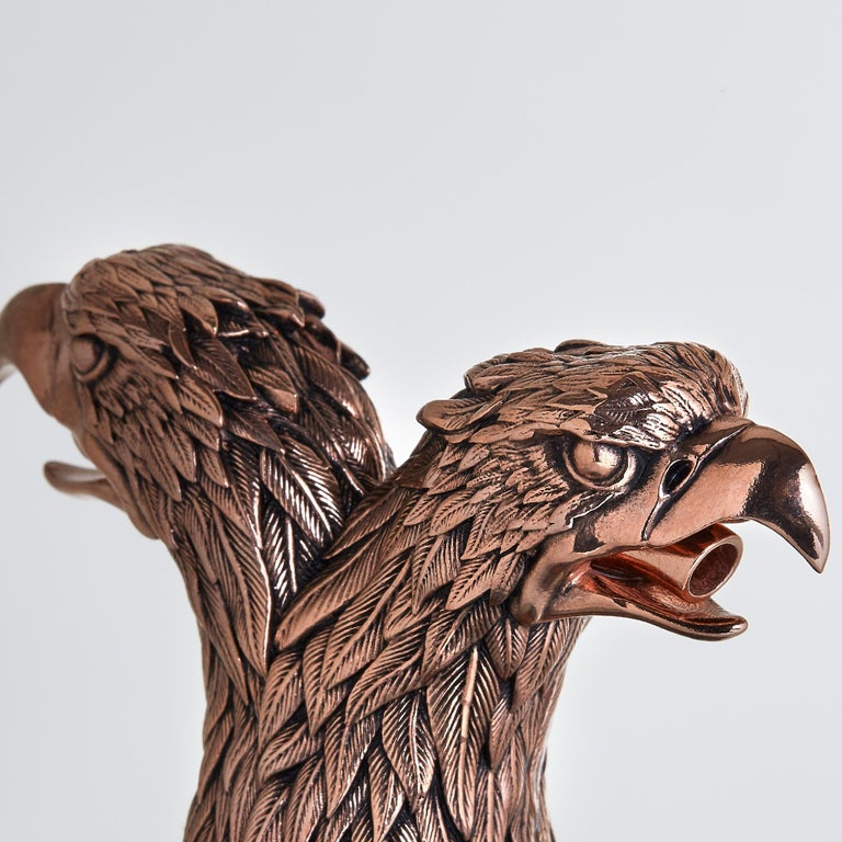 Stephen Webster Russian Roulette Rose Gold-Plated Double Eagle Head Pourer In New Condition For Sale In London, GB