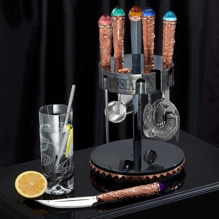 Stephen Webster Russian Roulette Smoking Gun High Ball Glass In New Condition For Sale In London, GB