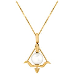 Stephen Webster Sagittarius Astro Ball 18 Karat Gold and White Pearl Pendant