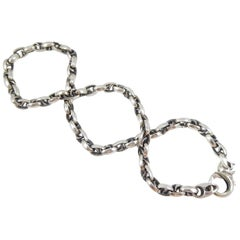 "Stephen Webster Silver Thorn ""S"" Link Neck Chain"