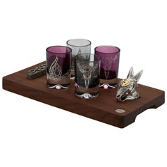 Stephen Webster Smoke and Amethyst Colored Tequila Glass Set, Set of 4 Glasses