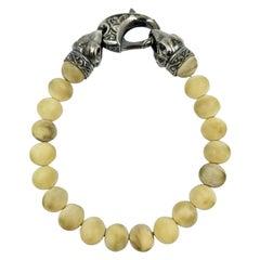 Stephen Webster Sterling Silver and Bone Bead Men's Bracelet