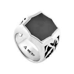 Stephen Webster Sterling Silver Hematite Signet Ring