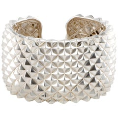 Stephen Webster Superstud Silver Wide Open Cuff Bracelet