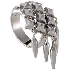 Stephen Webster Superstud Womens Silver Studs and Dangling Charms Ring